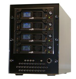 Mini Aluminum SATA Drive case, eSATA Quad SATA Drive Portable Raid Enclosure
