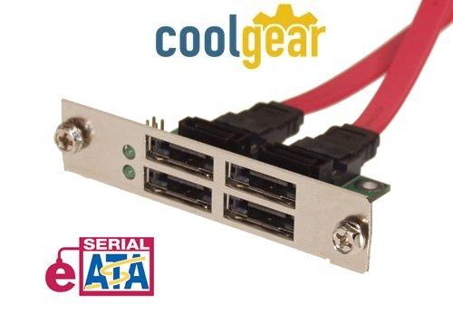 Quad Port eSATA SCSI Mount Device Bracket