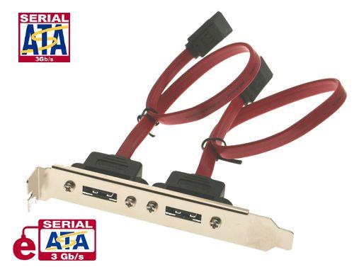 15 inch eSATA Dual Port Internal to External Adapter PCI Bracket