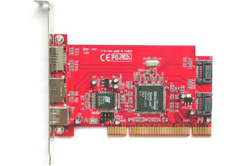 RAID 4Ports Native SATA-150 2External +2Internal + 2A 5V Bracket Power PCI Host
