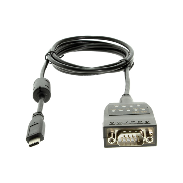 USB C to Serial RS232 Adapter with LED Indicators USB 2.0