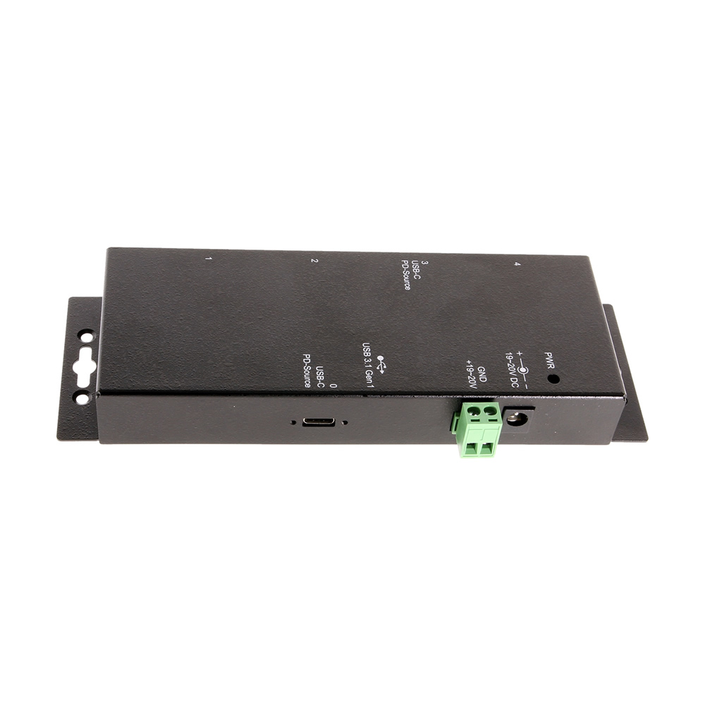 USB-C 4 Port Hub w/Power Delivery and 15KV ESD Surge Protection USB 3.1 Gen1
