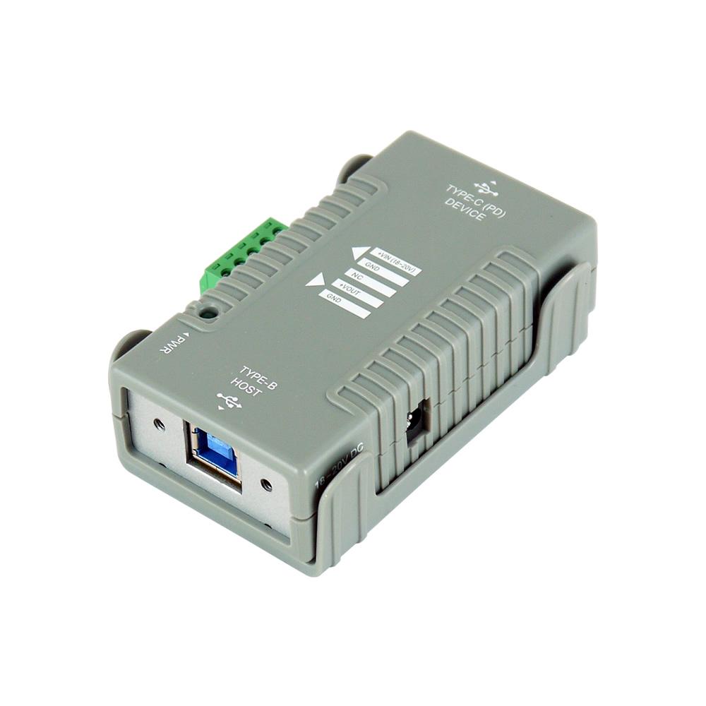 USB 3.1 PD Injector USB C PD 2.0 Gen1/2 B Host to USB 3.1 PD Device