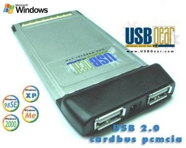 USB 2.0 High-Speed PCMCIA CARD-BUS Adapter