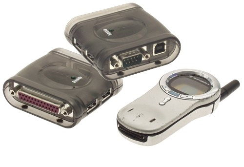 Docking Station with 2 Port USB HUB USB 2.0 ports , One serial port and One printer port